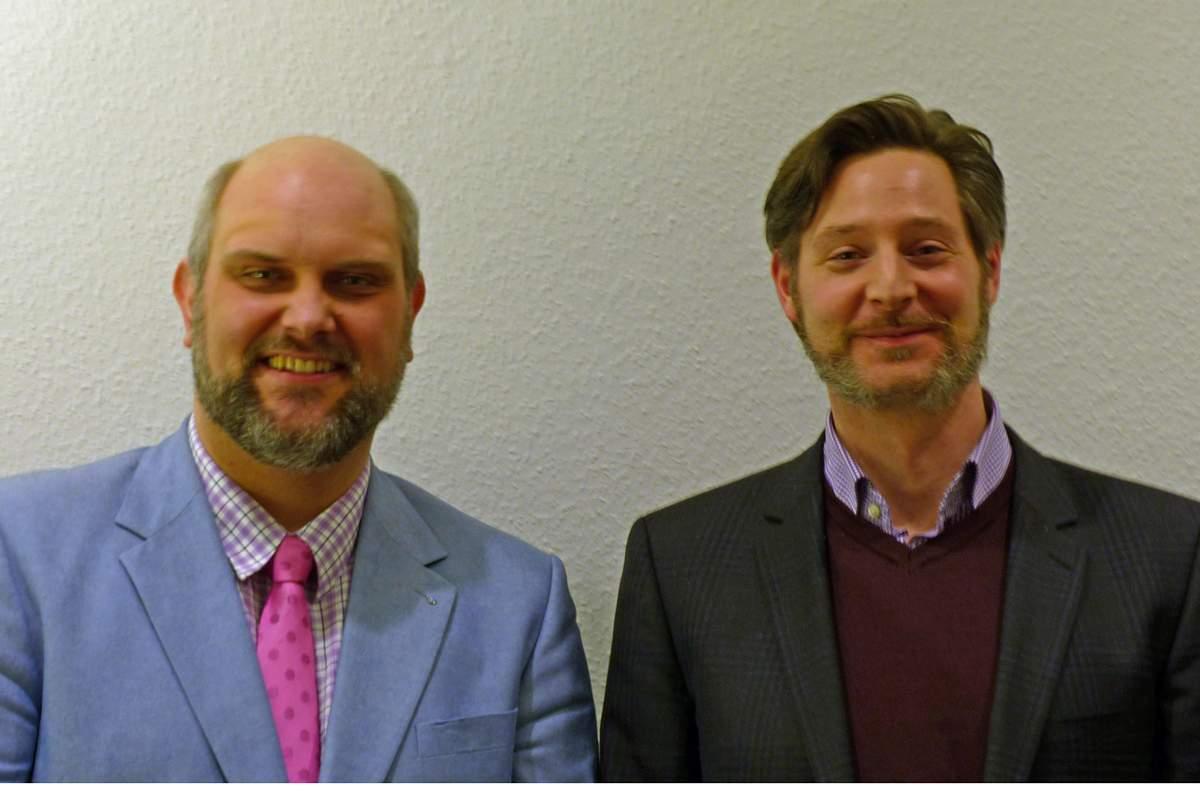 Herr Talbot und Herr Grotze, beide Freimaurer